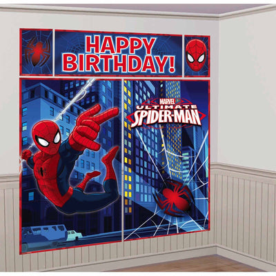 Spiderman Party Decoration Scene Setter Wall Decoration Kit