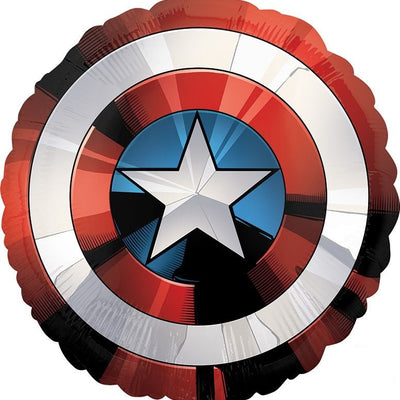 Avengers Captain America Shield 71cm Foil Party Balloon