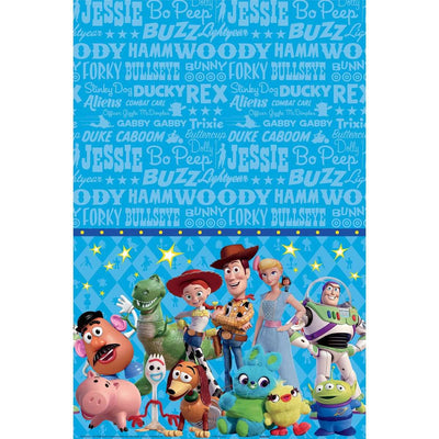Toy Story 4 Birthday Party Rectangle Party Table Cover - Party Buzz Party Supplies