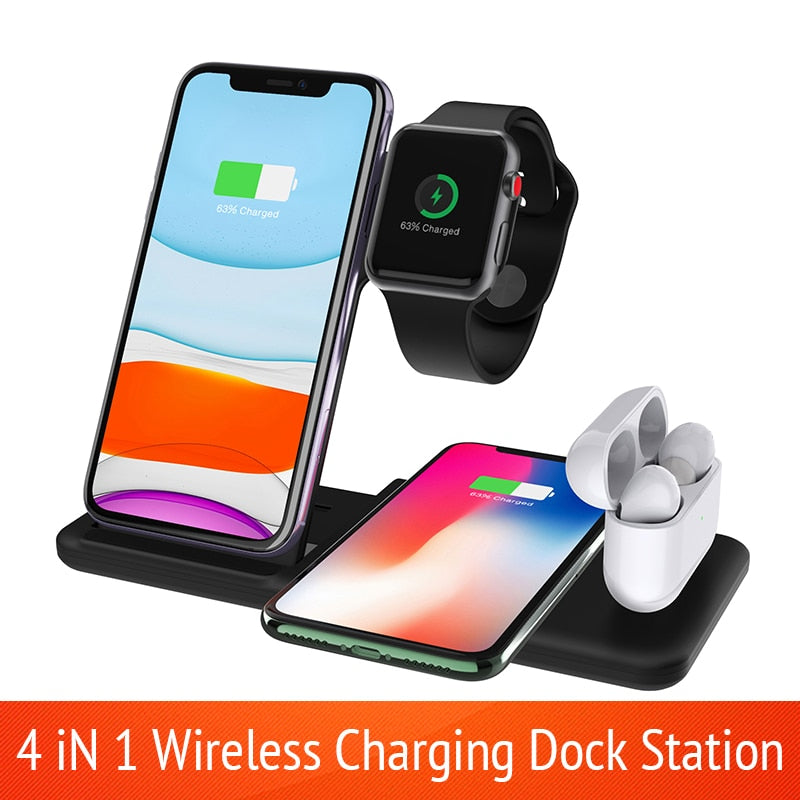 15W 4 in 1 Charging Station for all your Apple devices