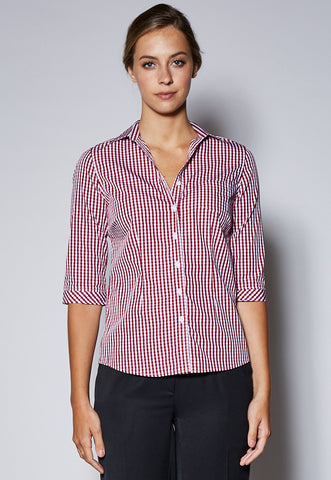 BZ43420 Female Mid Length Sleeve Checked Shirt