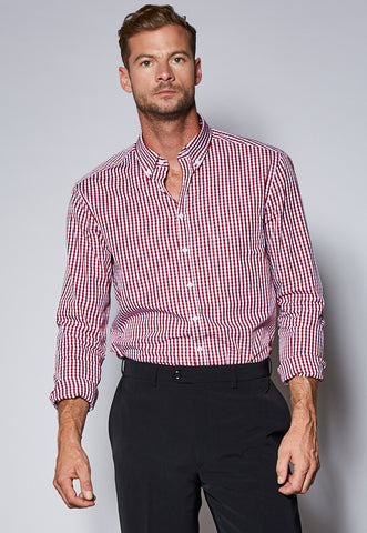 BZ43411 Male Long Sleeve Checked Shirt