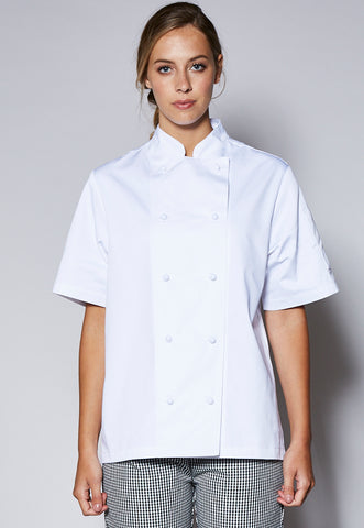 JB5CJ21 Female Short Sleeve Chefs Jacket