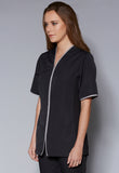 A10490 Standing Neckline Stretch Side Panels Tunic