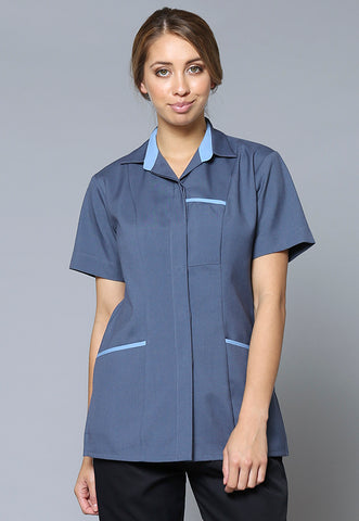 A25 Contrast Trim Three Pocket Tunic