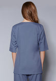 A40 Round Neck Centre Split Tunic