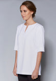 A40 Round Neck WIth Centre Split Tunic