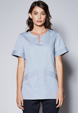 A41 Short Sleeve Round Neck With Split Centre Tunic