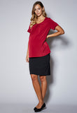 BL101SMAT Tuck Front Short Sleeve Maternity Top