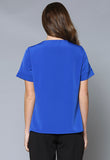 BL101S Tuck Front Short Sleeve Top