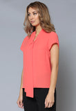 BL106 Tie Detail Cap Sleeve Top