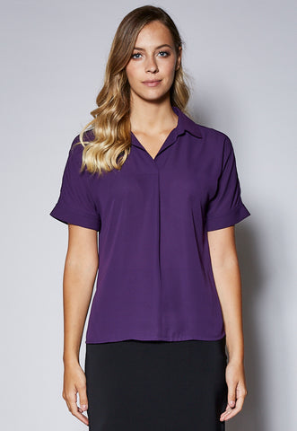 BL115 Pin Tuck Short Sleeve Shirt