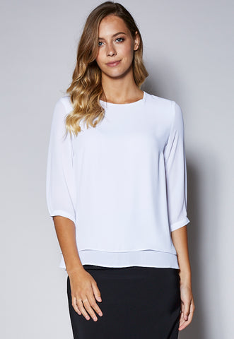 BL121Q Layered 3/4 Sleeve Top
