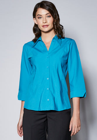 BL40CP Mid Length Sleeve Panelled Shirt