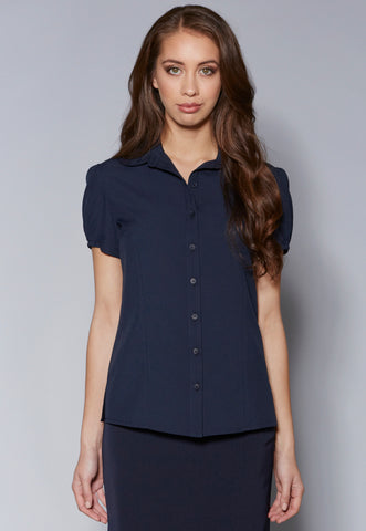 BL44 Round Collar Short Sleeve Top