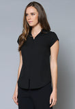 BL61 Zip front Cap Sleeve Shirt