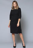 D11Q ¾ Sleeve Wrap Dress