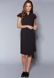 D11 Cap Sleeve Wrap Dress