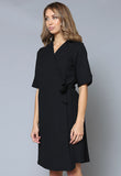 D16 V-Neck Robe Dress