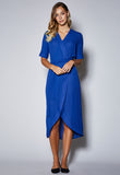 D17 V-Neck long Wrap Dress