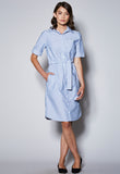 D19 Short Sleeve Shirt Dress