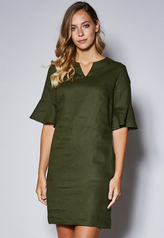 D21 Round Notch Neck Dress