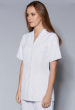 A110 Standing Collar V-Neck Zip Front Tunic