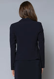 JK160 Cropped Curved Lapel Jacket