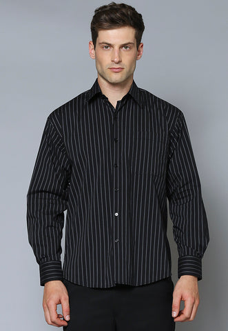 MBSL Male Striped Long Sleeve Business Shirt