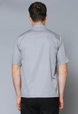 MCST3 Male Contrast Trim Concealed Placket Shirt