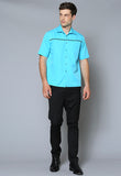MCST Male Contrast Trim Casual Shirt
