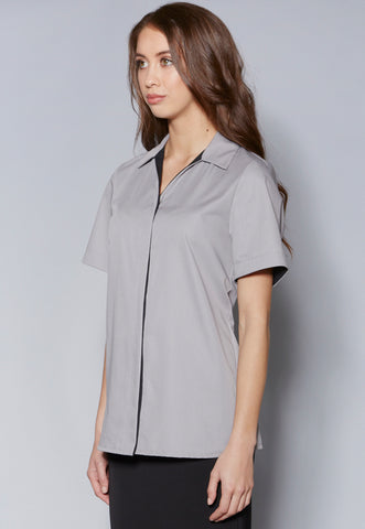 PPBL98 Contrast Short Sleeve Blouse