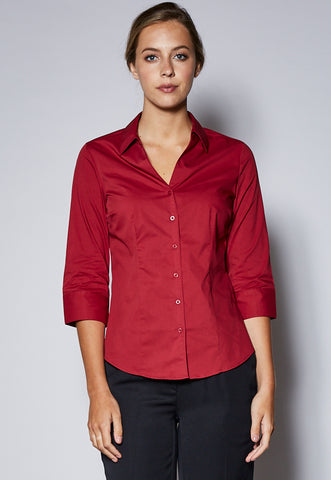 BZS770LT Ladies Y Neckline 3/4 Sleeve Shirt