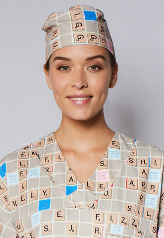 Scrabble® Board Unisex Scrub Hat