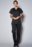 SCT001 Unisex Scrub Top with Cord Piping