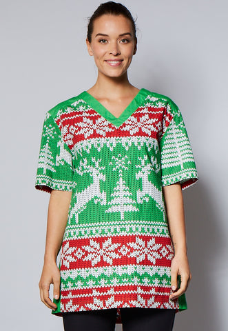 Ugly Christmas Sweater Unisex 100% Cotton Top