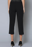 SL39-SLIM ¾ Length Seam Detail Slim Leg Trouser