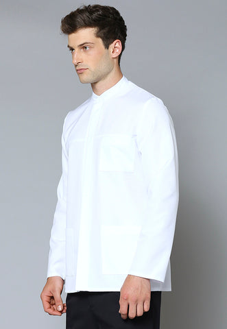 UJ49L Concealed Placket Long Sleeve Utility Jacket