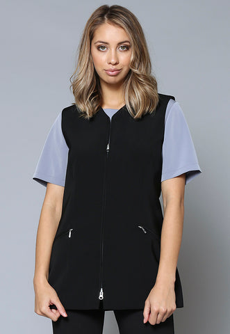 V107 Female Zip Front Vest