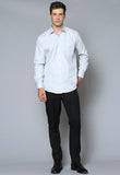 VFLM81U Male Textured Stripe Long Sleeve Business Shirt