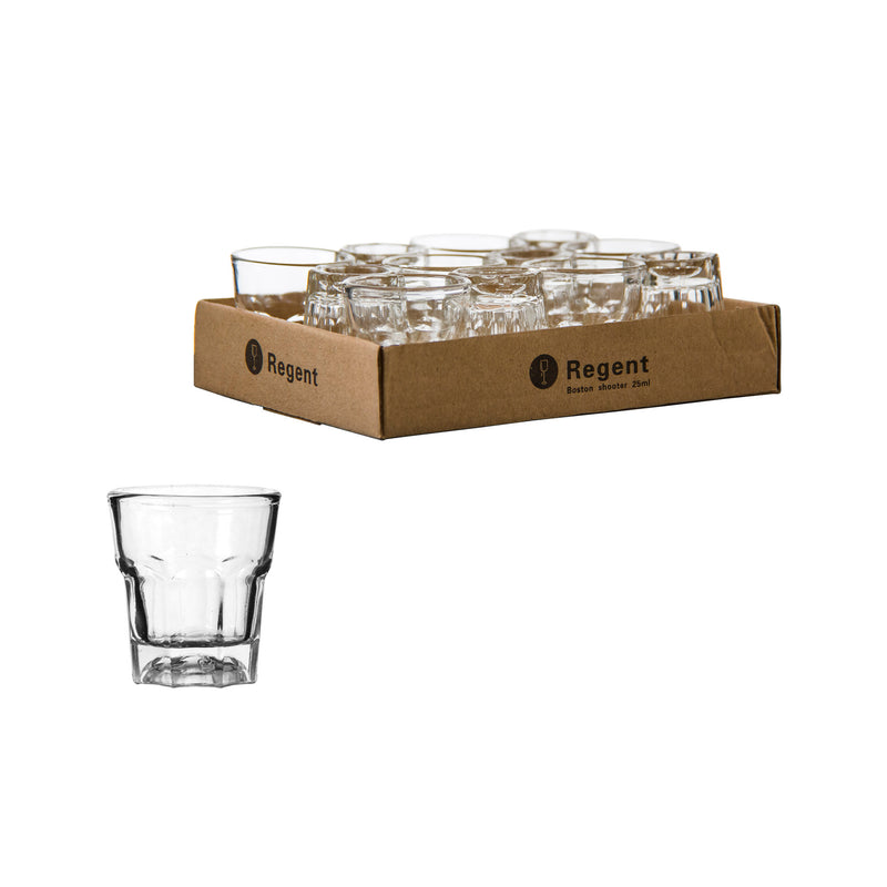 REGENT BOSTON SHOOTER GLASS, 12 PACK (25ML)