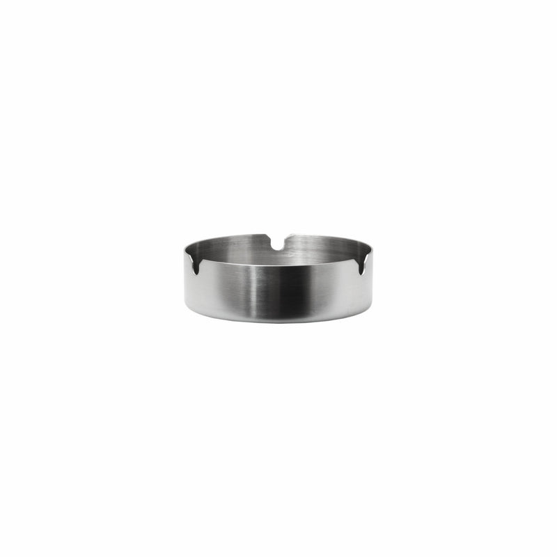 ASHTRAY ROUND STAINLESS STEEL HEAVY DUTY STACKABLE (100MM:DX30MM:H)