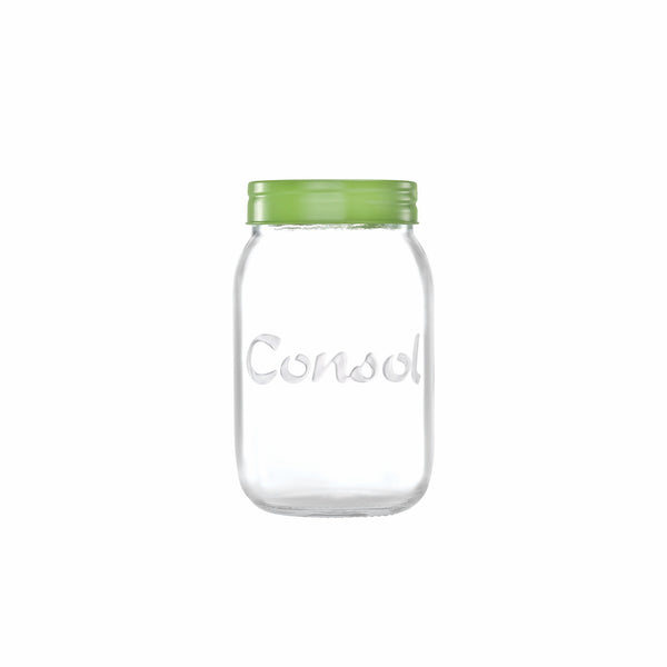 CONSOL JAR WITH SMARTIE COLOURED LID, 1LT (167X102MM DIA)