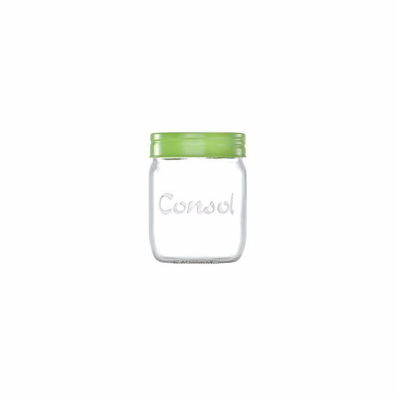 CONSOL JAR WITH SMARTIE COLOURED LID (500ML)