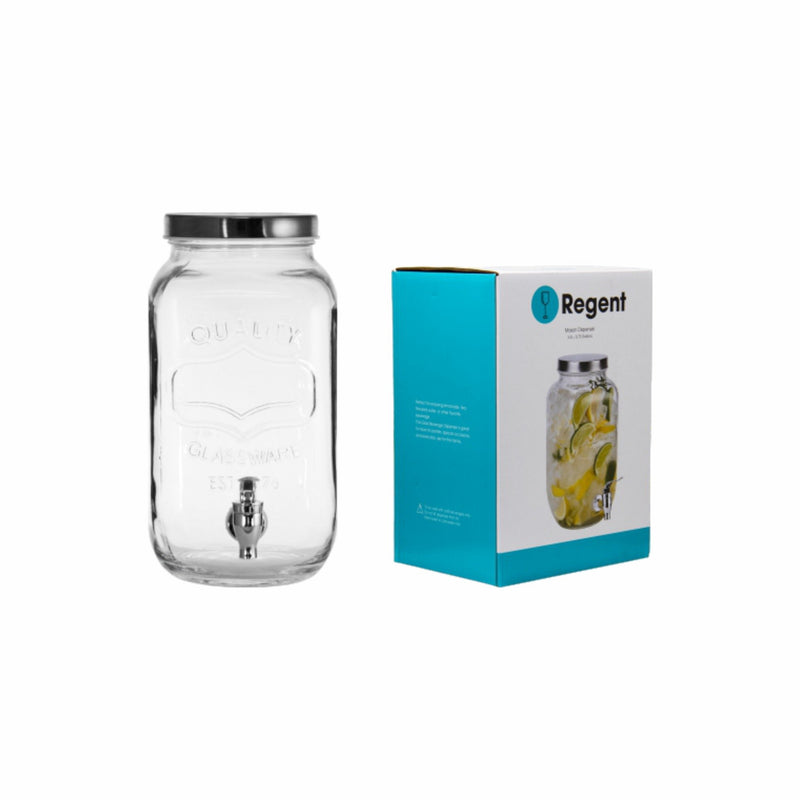 REGENT EMBOSSED GLASS BEVERAGE DISPENSER (3.3L)