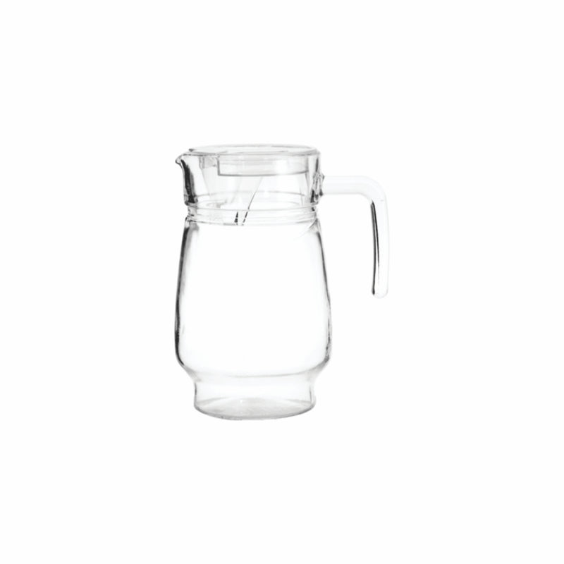 REGENT GLASS WATER JUG WITH CLEAR LID (1.6L) [CATERING]
