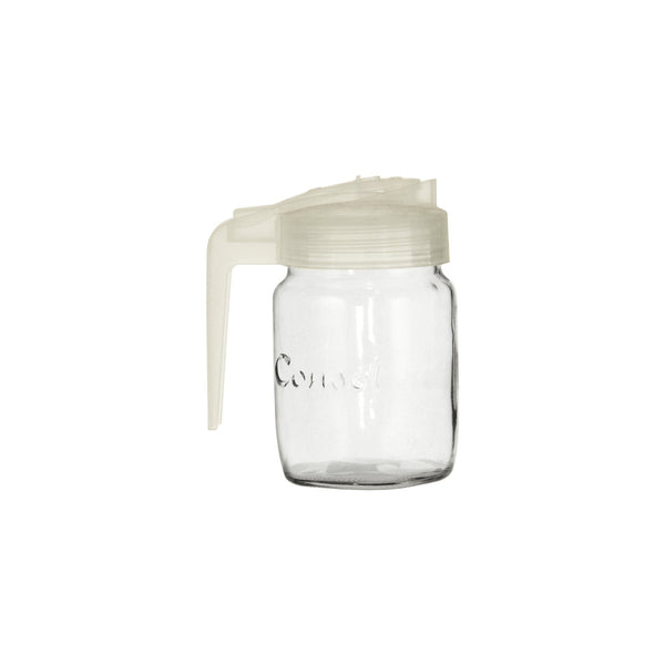 CONSOL MILK JUG WITH FROSTED WHITE PLASTIC LID (250ML)
