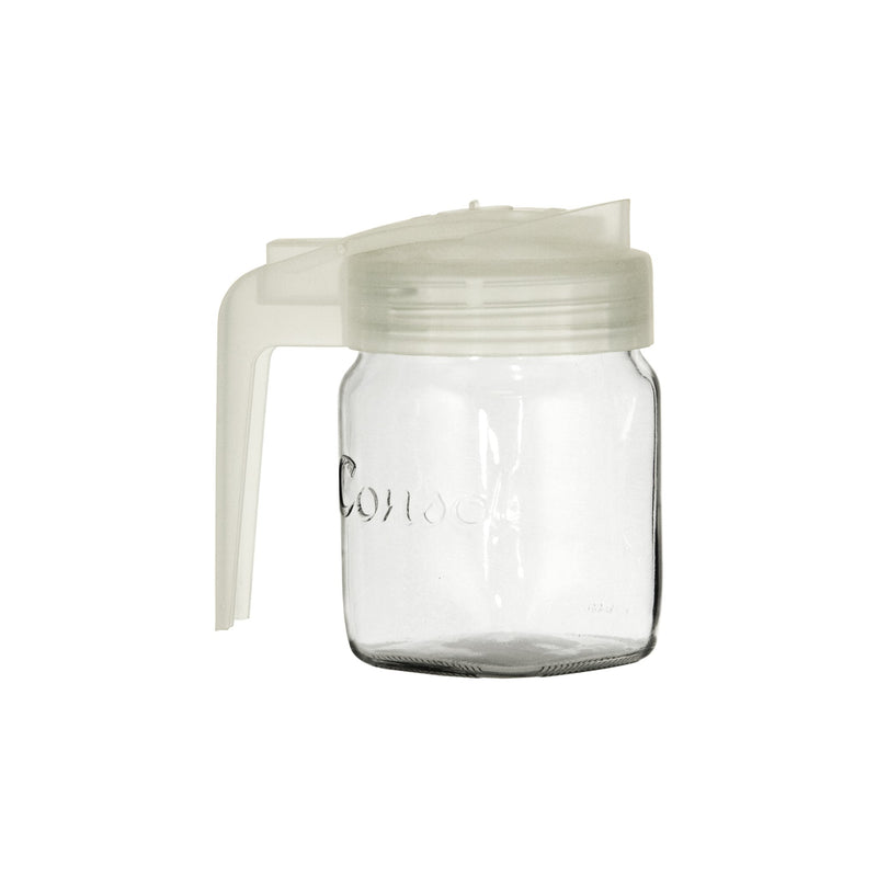 CONSOL MILK JUG WITH FROSTED WHITE PLASTIC LID (500ML)