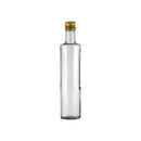 CONSOL ROUND OIL/VINEGAR BOTTLE WITH GOLD LID (500ML)