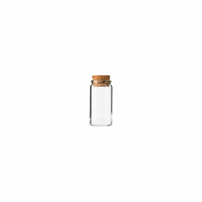 REGENT GLASS BOTTLES WITH CORK LIDS 4PCS (47MM:DX80MM)